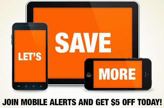 Hone Dept reminds you to send a text message to join in the savings.