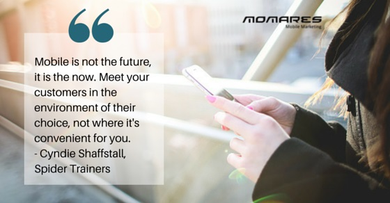 Marketing quote on mobile environment
