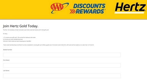 Hertz-and-AAA-Text-to-Win-Sweepstakes-Entry-Form
