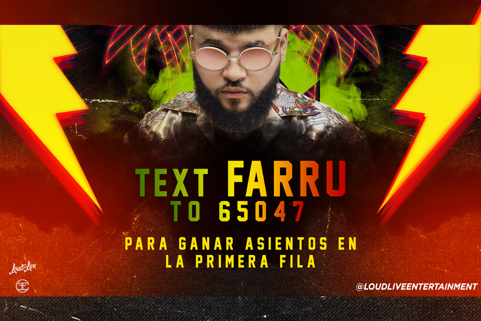 Loud and Live Farruko Text to Win Sweepstakes
