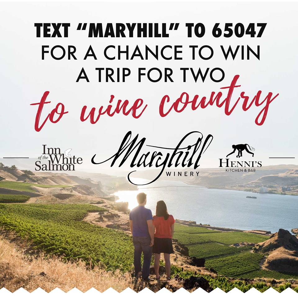 Maryhill Winery Offers a Trip to Wine Country in Text Message Sweepstakes