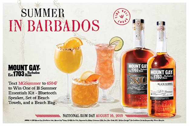 Mount Gay National Rum Day Text to Win Sweepstakes