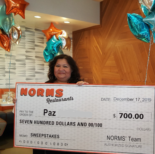 NORMS Restaurant Sweepstakes Text to Win