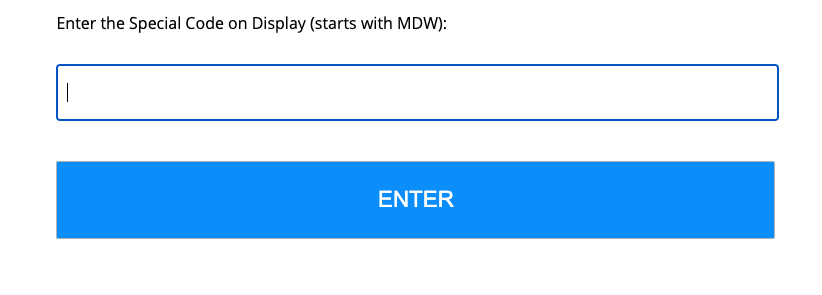 Store Display Code Entry Field Sweepstakes