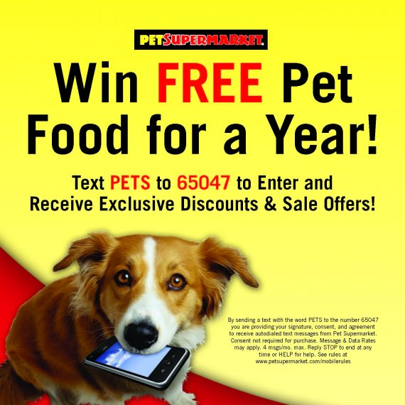 How Pet Supermarket uses text-to-win