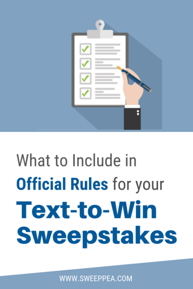 What to Include in Official Rules for your Text to Win Sweepstakes