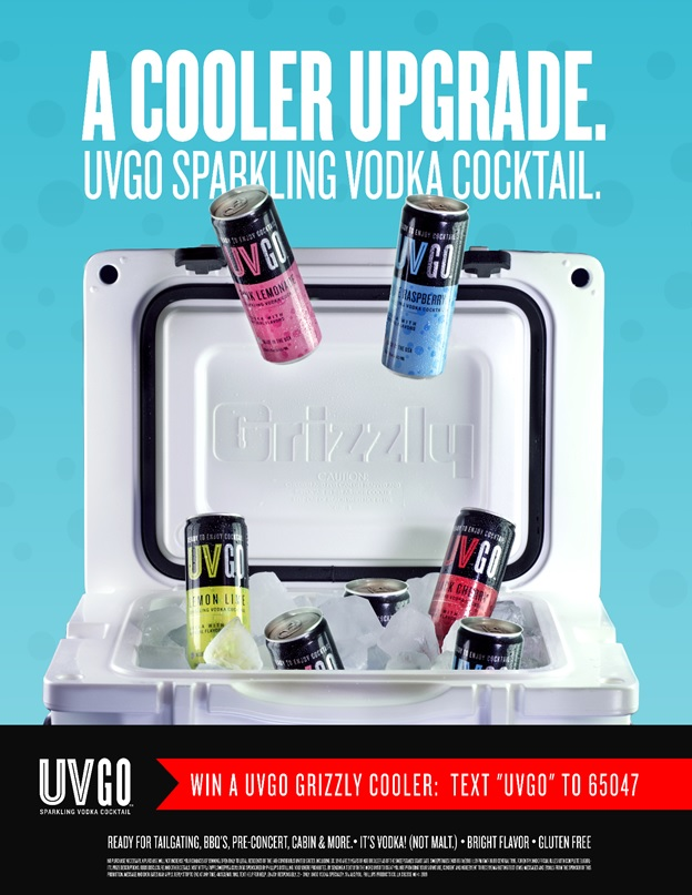 Win a UVGO Tailgating Cooler Text to Win Sweepstakes