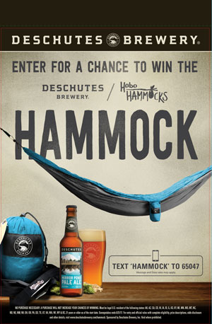 Deschutes Brewery, text to win, beer brewery text to win