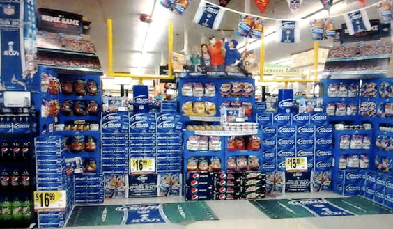 Display for Bud Light's text-to-win