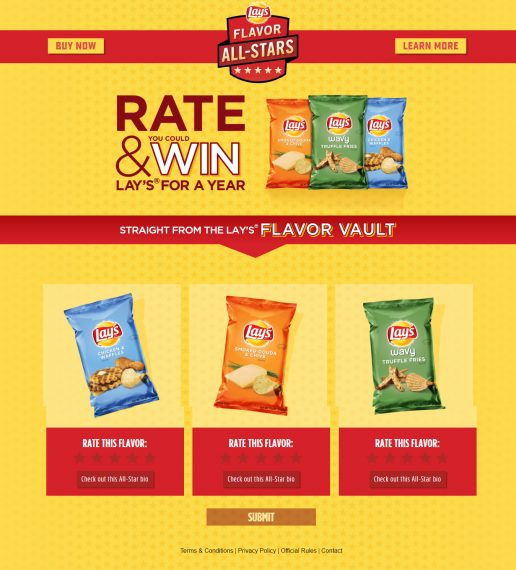Lay's Text-To-Win Sweepstakes