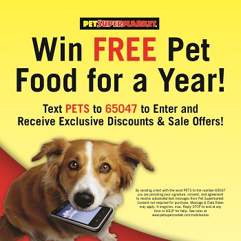 Free pet food for a year from Pet Supermarket