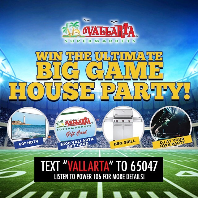 Vallarta Supermarkets Offers Big Game House Party in Text-to-Win Sweepstakes