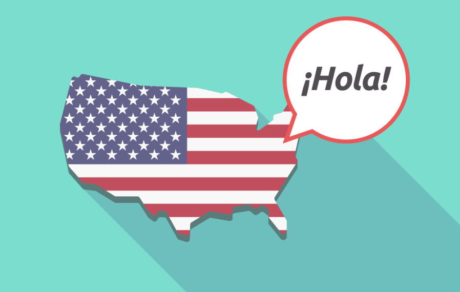 map of United States of America, Spanish, USA, espanol, text to win